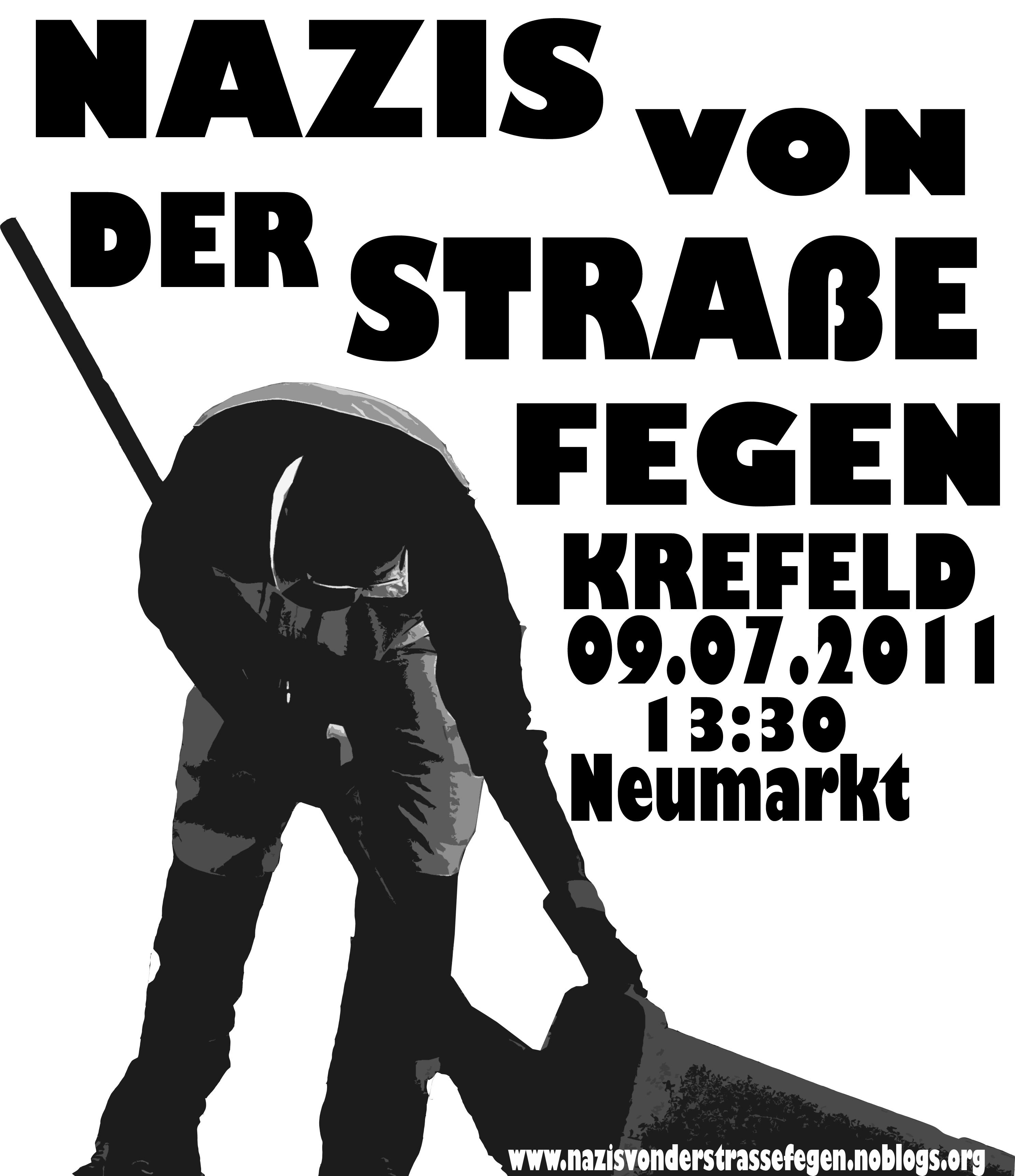 Die Nazis kommen – wir auch! - Nazis von der Strasse fegen!